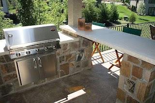Limestone Outdoor Kitchen Stone Stone Column Countertop Cedar
