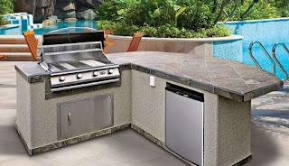 Lowes Modular Outdoor Kitchen Sink Ideas Master Module Cabinets Gril Plans Delectable