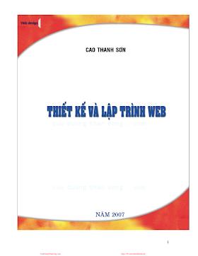 Tài liệu Thiết kế và lập trình Web.pdf