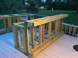 How to Frame Outdoor Kitchen a Boring Deck Or a Cool Homemajestic