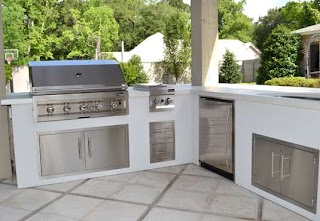 L Shaped Outdoor Kitchen The Northshore Kit