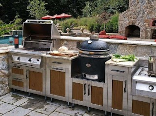 Outdoor Kitchen Canada Modular Ideas with Stainless Cabinet And