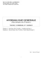 Instiut Nationale Agronomique - Cours D'Hydrolique Générale.pdf