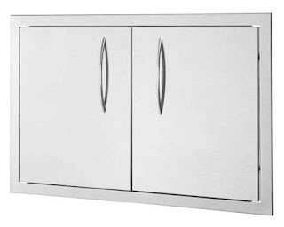 Stainless Steel Outdoor Kitchen Doors Single and Double Access 26 X 20 Double