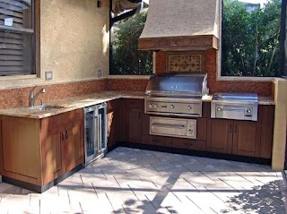 Do It Yourself Outdoor Kitchens Kits Outors Modern Outor Kchen Ks Wh Wooden Cabinet and Marble