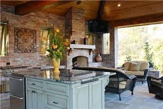 Louisiana Outdoor Kitchens Umyes Covered Kitchen Kitchen Angelos Lawn