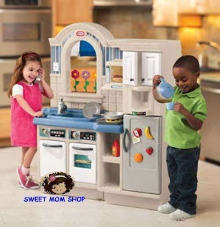 Little Tikes Indoor Outdoor Cook N Grill Kitchen Isideoutside Kitche Sweet Mom Shop