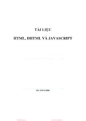 Tài liệu HTML, DHTML và JAVASCRIPT.pdf