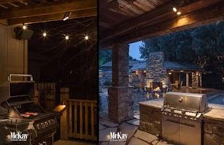 Outdoor Kitchen Lighting Ideas Grill