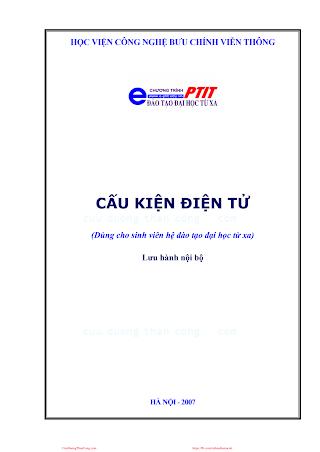 BCVT.Cấu Kiện Điện Tử - Ths. Trần Thị Cẩm, 230 Trang.pdf