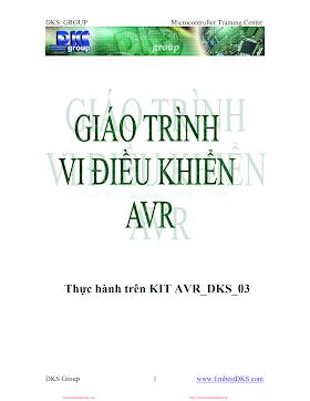 Giáo Trình Vi Điều Khiển AVR - Nhiều Tác Giả, 67 Trang.pdf