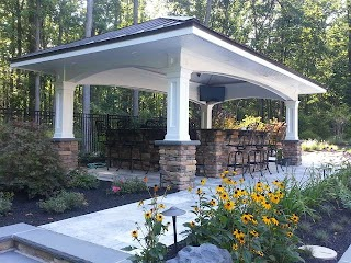 Pool House with Outdoor Kitchen Traditional Patio New York