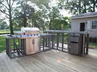Outdoor Kitchen Building Plans Fireplace and Youtube