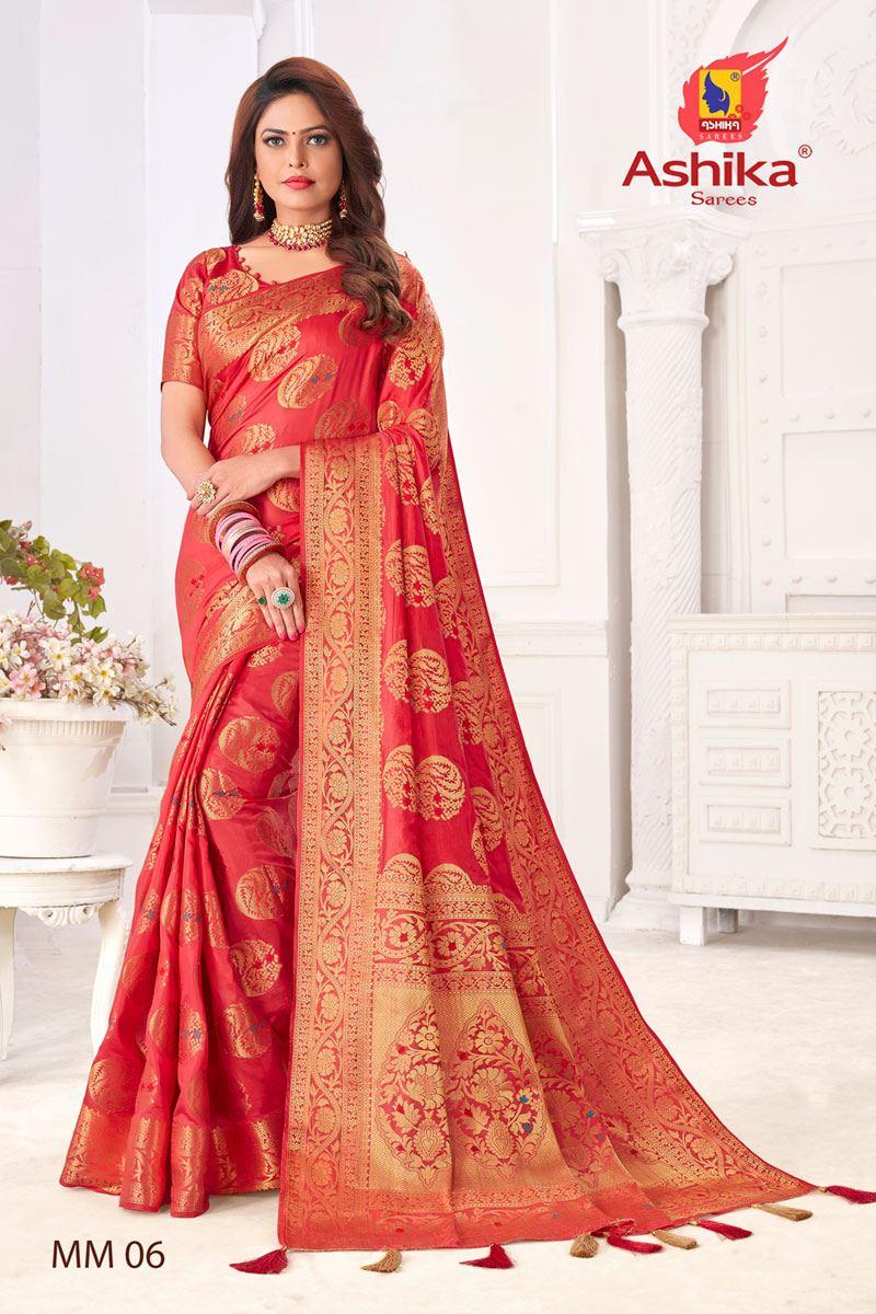Pink Color Silk Fabric Festive Wear Zari Work Saree