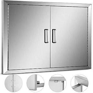 Outdoor Kitchen Height Amazoncom Mophorn Double Wall Bbq Access Door Cutout 31 Width X