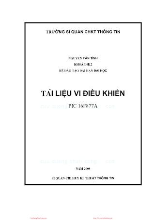 Tài Liệu Vi Điều Khiển - Nguyễn Văn Bình, 177 Trang.pdf
