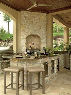 Limestone Outdoor Kitchen Texas and Bar Yapins