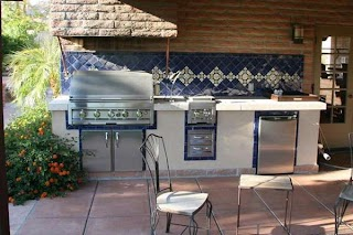 Outdoor Kitchen Tile S and Custom Barbecues Living Phoenix