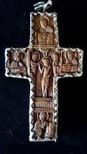 Cruce din lemn sculptat Athos - 25 - poza 2 - Galeria Anton