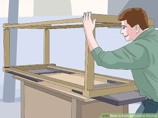 Build Outdoor Kitchen Frame How to an with Pictures Wikihow