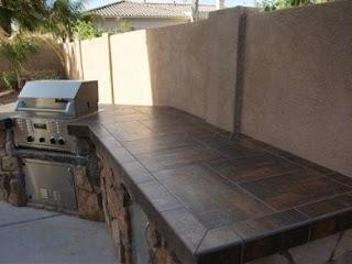 Outdoor Kitchen Tile D Countertops Home Countertop Countertops