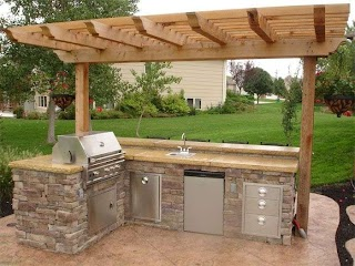 Outdoor Barbecue Kitchen Grill Designs Grill Ideas51