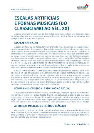 Formas musicais (do Classicismo ao Séc. XX)