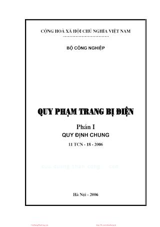 Quy Phạm Trang Bị Điện Phần 1- Quy Định Chung, 121 Trang.pdf