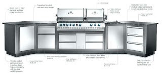 Outdoor Kitchen Doors and Drawers Stainless Steel Cabinet for with Regard To