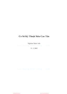 Cơ Sở Kỹ Thuật Cao Siêu Tần - Nghiêm Xuân Anh, 145 Trang.pdf