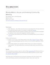 Muddy Waters House Landmarking Community Meeting
