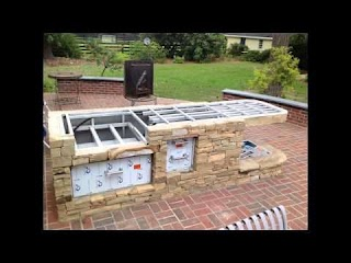 How to Build a Outdoor Kitchen Bbq Grilling Sttion Or Grill Surround Youtube