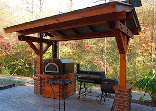 Outdoor Kitchen Roofs L Shaped Barbeque Roof New Deck Ideas in 2019 Unterstand
