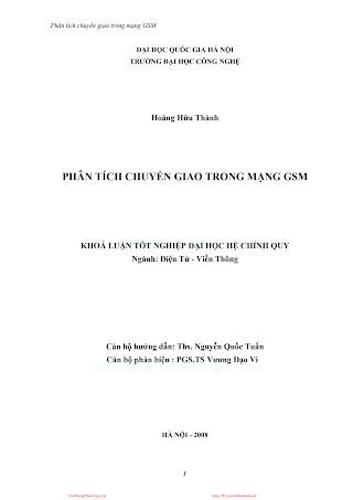 LVDA.Phân Tích Chuyển Giao Trong Mạng GSM - Hoàng Hữu Thành, 120 Trang.pdf