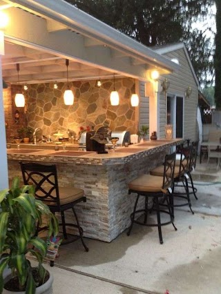Outdoor Kitchen and Bar Attention DIY Network Rate My Space Fans Stone Garden