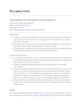 Committee on Workforce Development