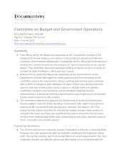 Committee on Budget and Government Operations
