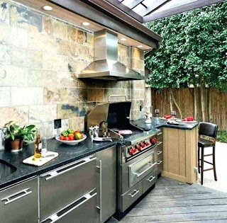 Outdoor Kitchen Vent Hood Island Ideal Tradicionme