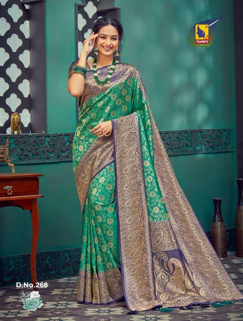 Green Silk Fabric Zari Work Fancy Saree