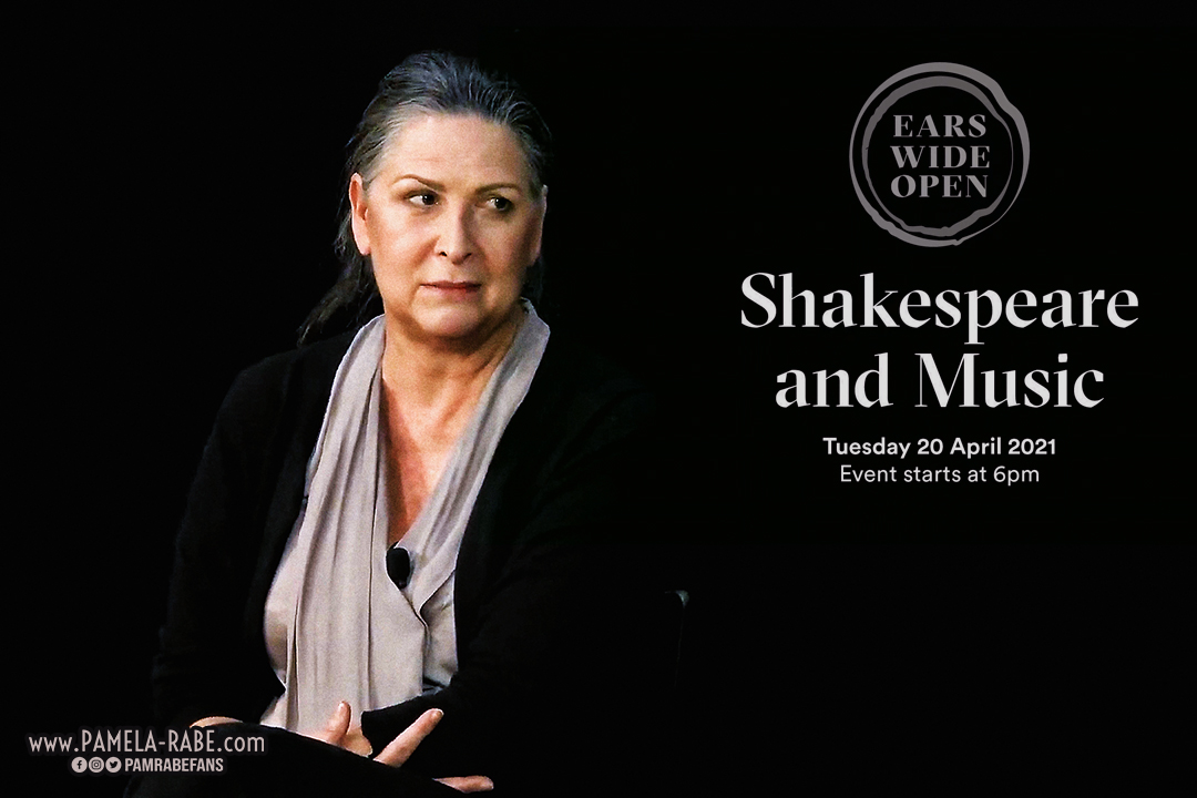 Pamela Rabe | Shakespeare and Music Livestream April 2021