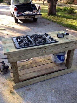 Outdoor Canning Kitchen Barn Stove Summer
