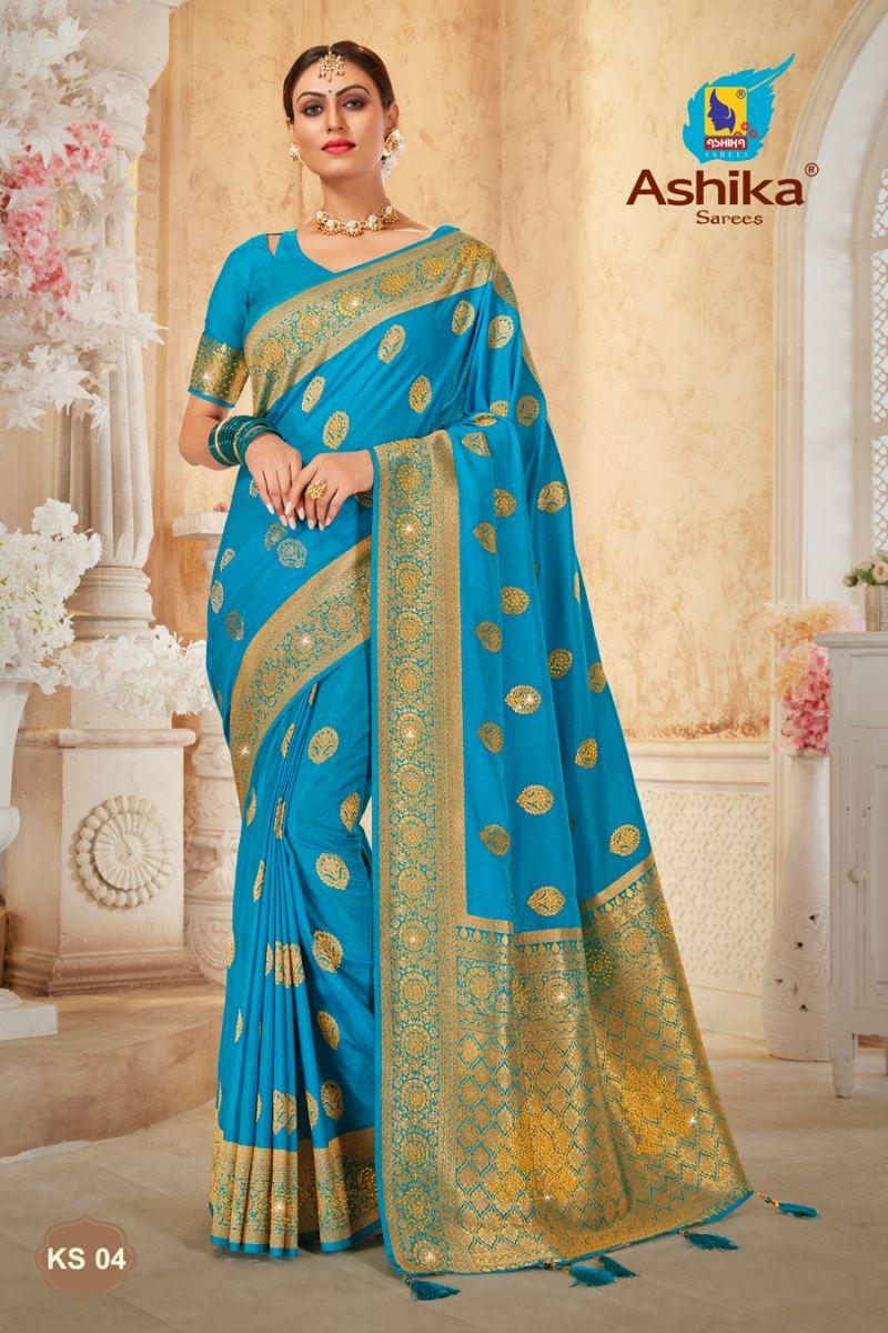 Firoji Color Art Silk Fabric Stone Work Party Wear Stylish Saree