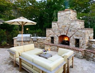Outdoor Kitchen Designs with Pizza Oven Featuring S Fireplaces and Other