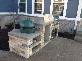Outdoor Kitchen with Big Green Egg Cozy Pinkbungalow
