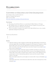 Committee on Education and Child Development
