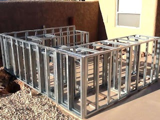 How to Frame Outdoor Kitchen Build Steel Metal Stud Framing for Building