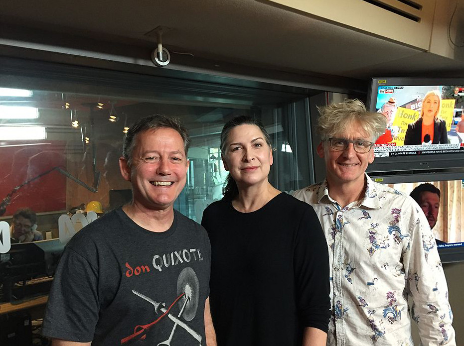 Nick Earls, Pamela Rabe, David Astle (John Standish - ABC Local)