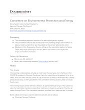 Committee on Enviromental Protection and Energy