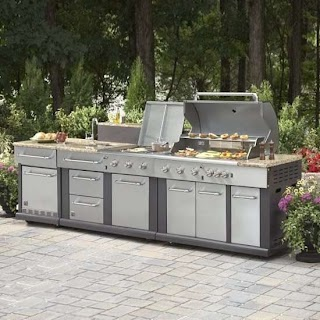 Lowes Outdoor Kitchen Island Modern Master Forge Modular Set Lowe S Canada On