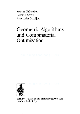 038713624X {207EACB7} Geometric Algorithms and Combinatorial Optimization [Grotschel 1988].pdf